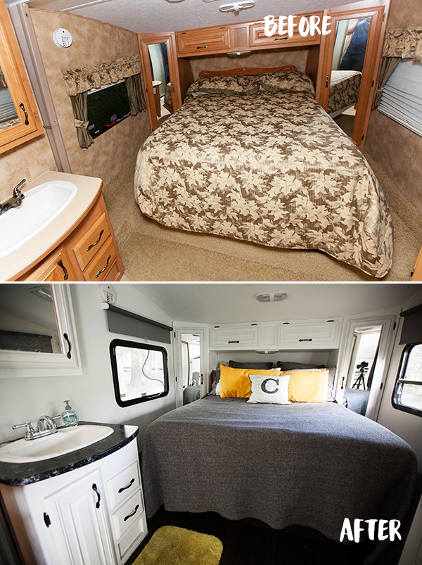 Wonderful Bedroom Renovation Before And After The Rv Renovation Before U0026 After