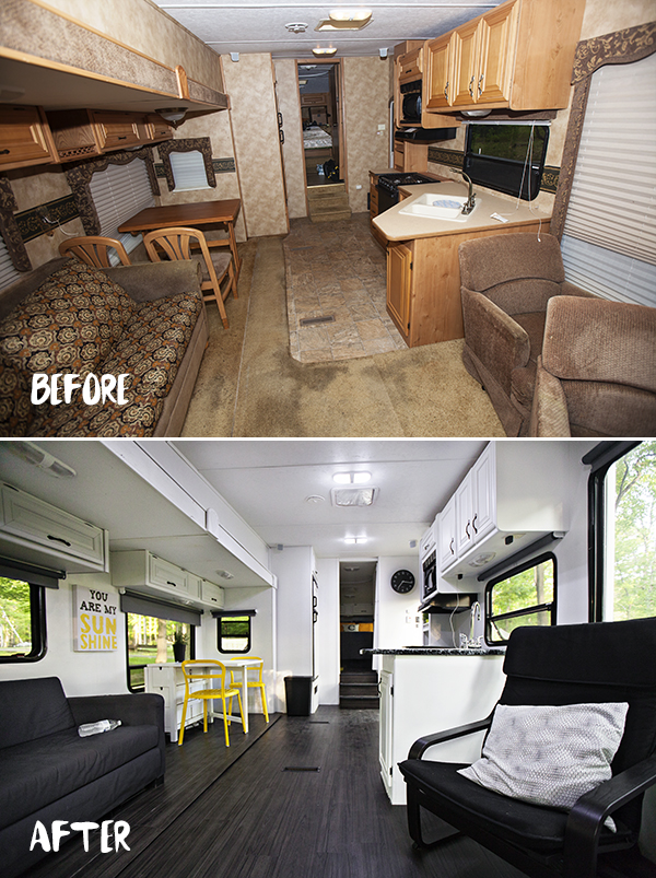 Bedroom Renovation Before And After the rv renovation | before & after