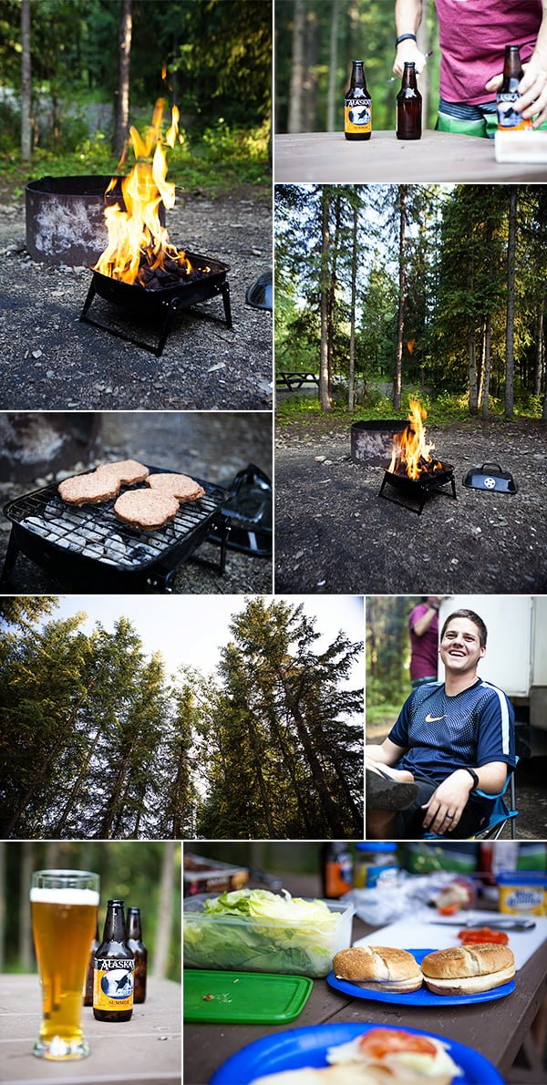 4-campfire dinner and beers